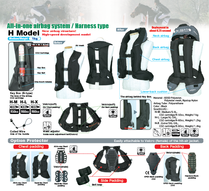 Light Airbag Vest H - HORSE RIDING