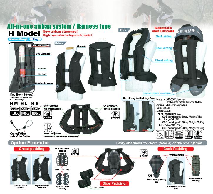 Light Airbag Vest H - HORSE RIDING
