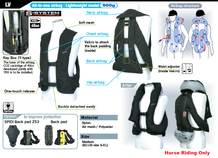 Light Airbag Vest LV - HORSE RIDING