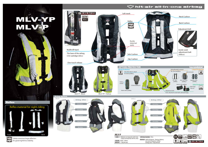 Gight Airbag Vest MLV-YP, MLV-P - HORSE RIDING & MOTOCYCLE