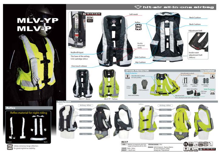 Gilet Airbag Light MLV-YP, MLV-P - EQUITATION & MOTO