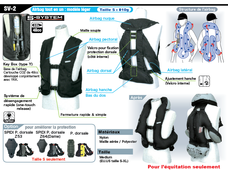 gilet airbag light sv2 equitation hit air shop. Black Bedroom Furniture Sets. Home Design Ideas